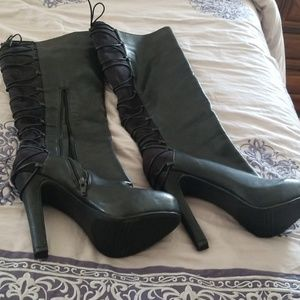 Shoes - High heel black boots